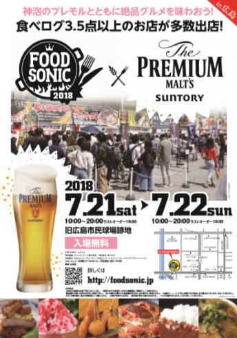 フードソニック2018in広島 ポスター