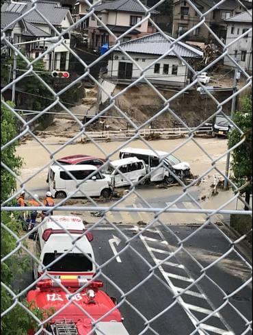熊野町・矢野峠 大雨被害