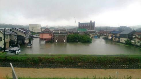 大雨被害、福山 東部自動車免許センター