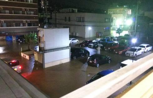 大雨被害、安芸区役所中野支所