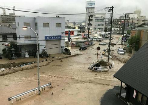 広島市安佐北区・口田、大雨被害の様子