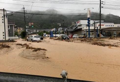東広島市八本松の土砂災害