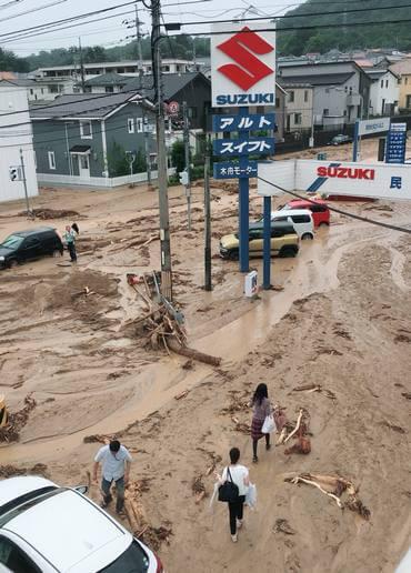 東広島市八本松の大雨被害