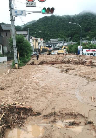 八本松の大雨被害