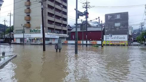 呉市で冠水被害