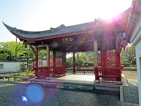 広島・中国式庭園の渝華園、東屋