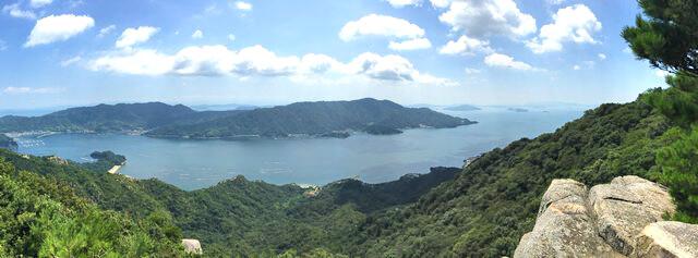 江田島・陀峯山の山頂付近からの眺め