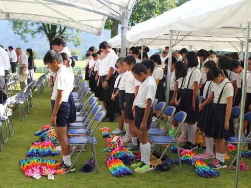 福岡県八女市星野村 平和祈念式典の様子4