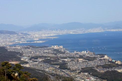 経小屋山から見た広島の景色