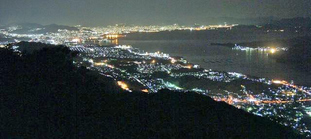 経小屋山は夜景も綺麗