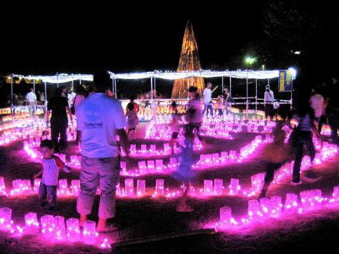 花と光のページェント、広島市植物公園でキャンドルライトアップ