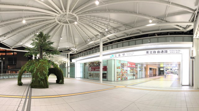 広島駅 癒しの森サマーツリー 全景