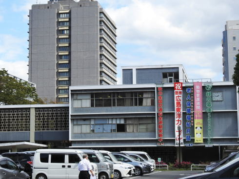 カープ優勝後の広島の様子2018 広島県庁