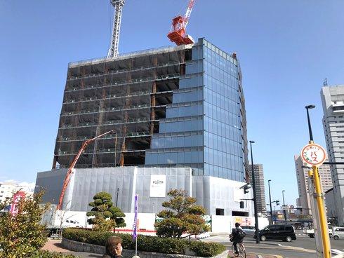 広島二葉の里プロジェクト、2018年3月工事の様子