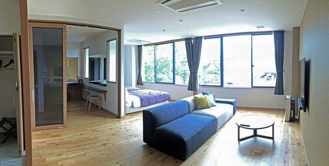 宮浜温泉の新ホテル IBUKU(イブク)客室の様子
