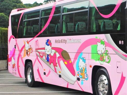 ハローキティ新幹線ラッピングバス「めいぷるとりっぷ」バージョン2