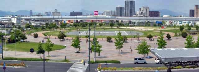 広島港の前にある、広島みなと公園