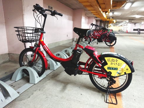 ぴーすくる、広島市レンタサイクルでの観光・普段使いにも便利