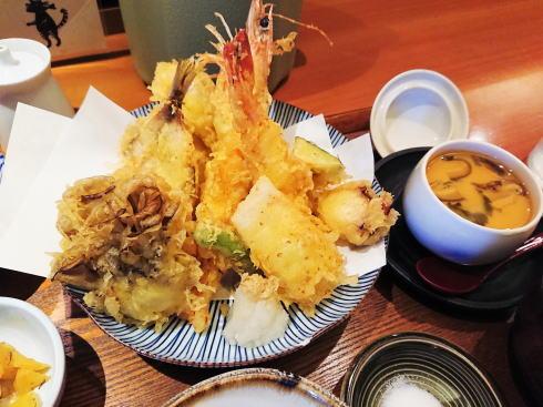 尾道 あかとら 天ぷら定食2