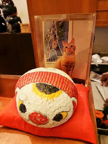 尾道 あかとら 店内に福石猫