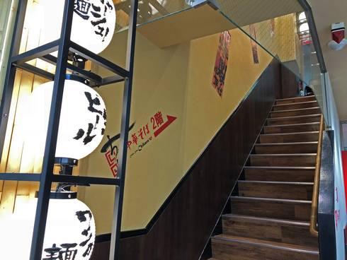 広島本通り うどんのちから、階段上がると「中華そばのちから」へ