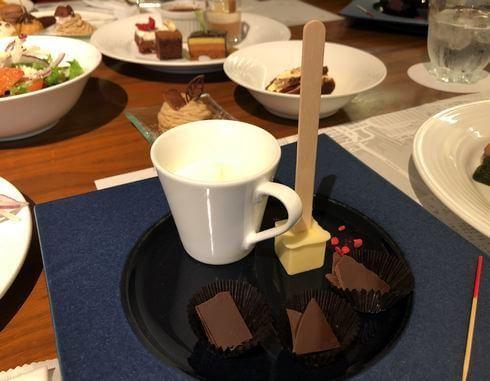 チョコレートデザートブッフェ、テイスティングプレートも
