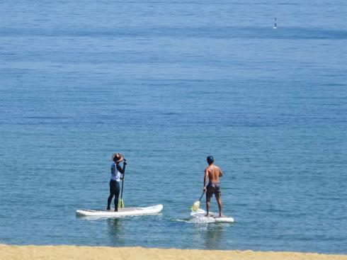 みなとオアシスゆう(山口県岩国市)ビーチで遊ぶひとたち