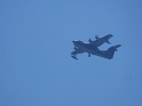 みなとオアシスゆう(山口県岩国市)から見る飛行機