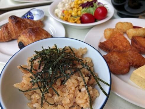 ザロイヤルパークホテル広島の朝食に、穴子飯も!