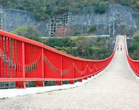 ギネス登録された世羅の「夢吊橋(ゆめつりばし)」