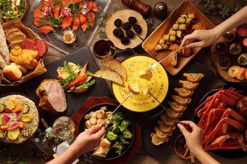 トリュフ薫るチーズフォンデュ「冬のワインディナーブッフェ」