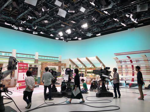 広島テレビ6階に制作スタジオ