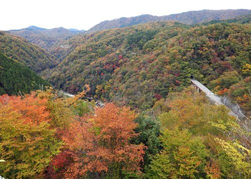 猪山展望台から安芸太田町・北側の眺め