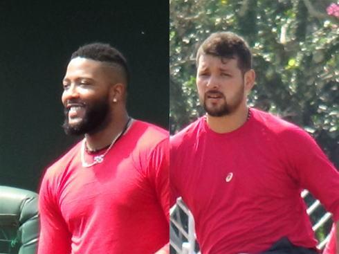 ジェイジャクソン投手、レオネルカンポス投手の画像