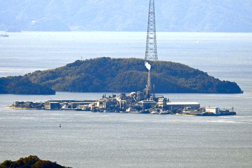 黒滝山から見た契島