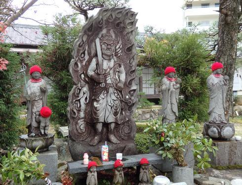 不動明王の石像、広島 不動院で