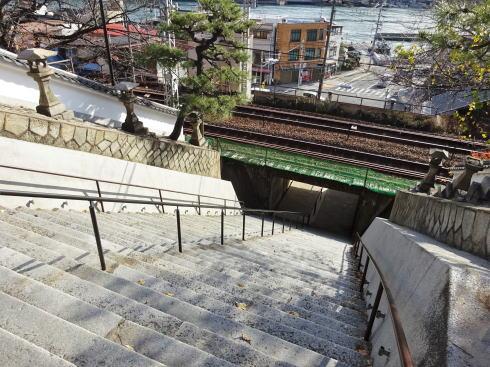 尾道 浄土寺「山門(重要文化財)」へと続く階段
