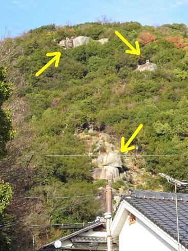 浄土寺 鎖場(俯瞰)