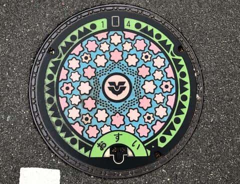 黒瀬町のデザインマンホール(東広島市)