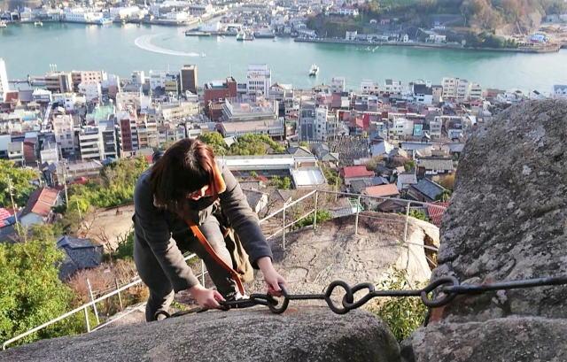 尾道 くさり山(石鎚山)62年ぶり復元、千光寺で鎖場プチ修行・絶景