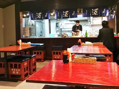 東広島市 西条酒蔵通り 真心デイズ(お好み焼き)店内の様子