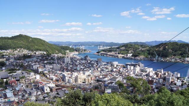 千光寺から見る尾道の景色 写真