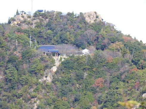 竹原市 黒滝山から見る白滝山