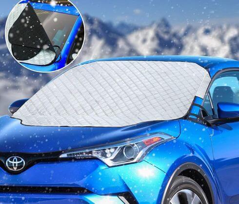 車の窓ガラス凍結の対策方法!フロントガラスにフロントカバー