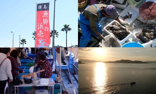 漁師の浜売り、福山市内海町・横島で獲れたて魚介を港で直売