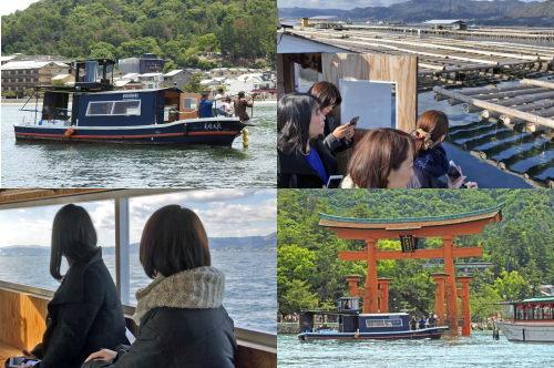 毛利丸、遊覧船で宮島のレアスポットも観光案内
