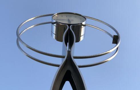 宮浜グラウンドゴルフ場に移設された時計台
