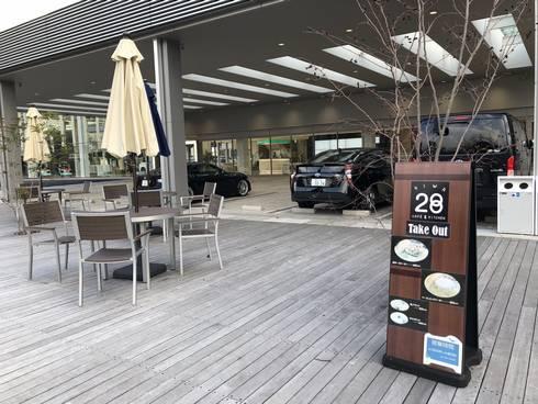 クリップ広島 カフェ、テラス席も