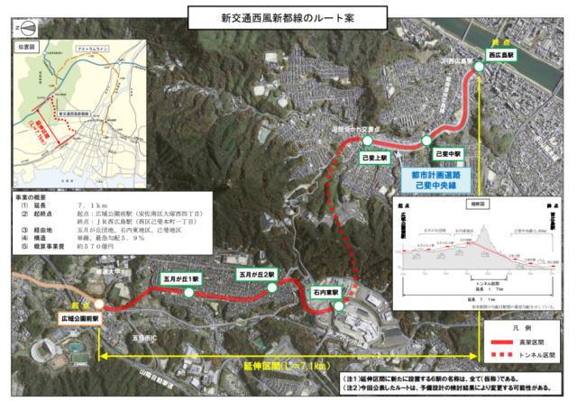アストラムライン 延伸計画、ルートと新駅