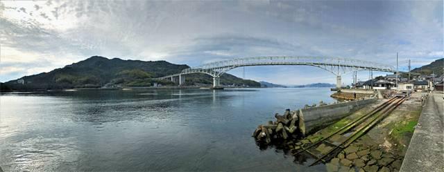 倉橋島と早瀬大橋